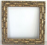 ART NOUVEAU , DECO HAND CARVED GILDED WOOD FRAME FOR PAINTING 10 X10 INCH ( a-8)
