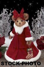 "Bearington Bears RARE RETIRED Musical Christmas Rosetta Pointsettia 14"" W/Tags"