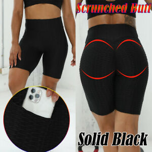 Women Tie dye Legging High Waist Yoga Short Pocket Gym Sport Snakeskin Hot Pants