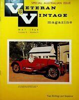 Veteran & Vintage Magazine May 1964 Cars Autos Australian Issue Locomobile