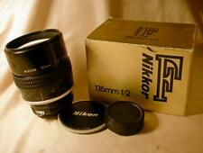 NIKON NIKKOR Ai-S 135/2 135mm f2 LENS Nikon F camera mount MANUAL focus NICE BOX