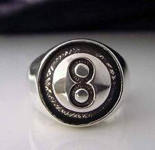 Stainless 8 Ball Biker Ring Custom Size Pool Billiards Player handmade R29ss
