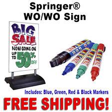 "24""W x 36""H Springer Write On Wash Off Sidewalk Sign  White"