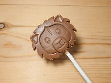 Lion/African/ safari/ jungle animal/Belgian chocolate lollies/lollipops x 10