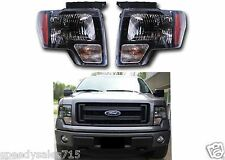 OEM Black Harley Davidson Head Lights For 2009-2014 Ford F-150 New Free Shipping
