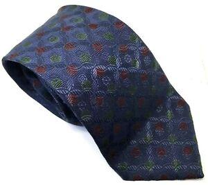"Gianfranco Ferre Men's Tie Blue Circles Polka 100% Silk 3.5"" Width 61"" Long"
