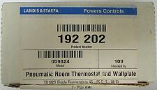 LANDIS & STAEFA POWERS CONTROLS 192 202 Model 059824 Pneumatic Room Thermostat