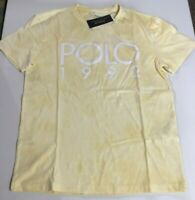 POLO Ralph Lauren Men's SZ  XL Montauk 1992 Short Sleeve T-Shirt TIE DYE Yellow