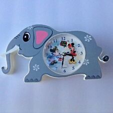 Disney Mickey Minnie Mouse Clock Elephant Decor Only Plastic Not Working Nursery