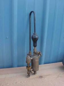 Powell 1/3 Pint Lubricator Brass Farm Antique Steam Engine