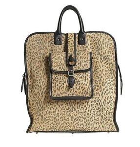 NWT MAYLE Leopard printed suede travel tote bag handbag $875 retail Barneys NY