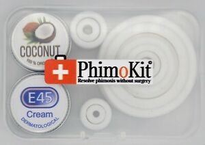 Phimosis Kit To Cure a Tight Prepuce - 22 Unique Rings Full Kit with Phimo Cream