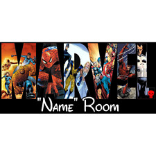 Marvel Personalised Bedroom Door Sign  - Any Text/Name (5)