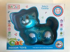 Robot Interactive Kitty Cat Walk Bump Go Lights & Music Tail & Head Swing Blue