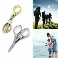 Stainless Steel Mini Folding Camping Scissors Keychain Fishing Scissor Cutter