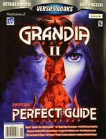 GRANDIA II - Official Perfect Guide Strategy Book (Playstation 2, PS2)