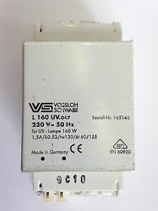 Sunbed Fluorescent Lamp Tube Lighting Ballast / Chokes 160W 230V 50Hzs