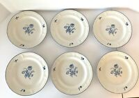 "Brickoven Stoneware Salad Plate set of 8 ""Jardin Bleu"" French Country compatible"