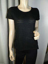 Ensemble gilet et tee-shirt AMAZONE façon crochet ajouré noir. Taille 38
