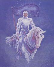 "Sir Galahad (Mounted Knight In Armour) Cross Stitch Kit - DMC - 14"" x 17"""