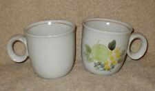2 Noritake Stoneware PLENTY 8573 Mugs / Cups - Made In Japan