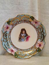 """ROYAL VIENNA 1880 Blue Beehive Mark, LOUIS IV Plate Platter 11.5"""" SIGNED"""