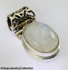 RAINBOW MOONSTONE PENDANT 925 STERLING SILVER ARTISAN JEWELRY COLLECTION Y154B
