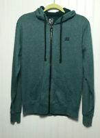 BILLABONG Men's Small Green Heather Zip Front Hoodie Sweatshirt Jacket
