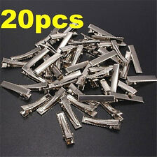 DIY Flat Metal Single Prong Alligator Hair Clips Barrette for Bows 20PC ☆