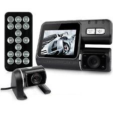 Lente de cámara frontal y trasera Dual Hd 720p H.264 coche Dash parabrisas + Cámara De Reversa