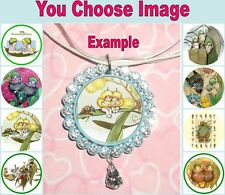 GUMNUT BABIES Children's Rhinestone Necklace U Choose Image Snugglepot Cuddlepie