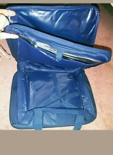 Hot/Cold Insulated Thermal Tote w Partition for hot/Cold Pack Nylon Dark Blue