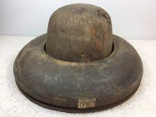 Vintage Antique Wooden Hat Mold Wood Millinery 7 & 5 6 non matching read desc