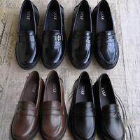 School Uniform Shoes Low Mid Heel Student Soft Leather Shoe Maid Lolita Cosplay