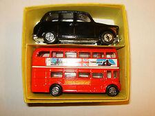 RARE COFFRET AUSTIN FX4 TAXI + BUS LONDON par SEEROL Made in England au 1/43