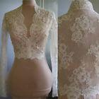 Modest Bridal Wraps Lace V Neck Sheath Wedding Bolero Long Sleeve Lace Jacket