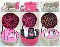 1 VICTORIAS SECRET ROUND LEOPARD TRAIN CASE EDP LOTION ROLLERBALL GIFT SET UPICK