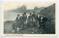 "1907 postcard ""ST KILDA SCHOOL-CHILDREN"" with DUNVEGAN (Skye) c.d.s on KEVII ½d"