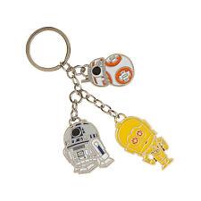 Star Wars Droids R2-D2 BB-8 C-3PO Metal Keychain NEW IN STOCK