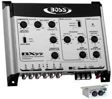 BOSS BX55 2/3 Way Car Audio Electronic Crossover Bass w/Remote Control
