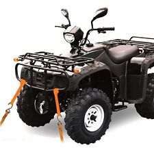 Motorcycle Motorbike Quad handlebar tie down trailer loops - set of 4