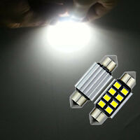 2pcs 2835 Festoon Canbus 8SMD LED Car Interior Dome Map Light Bulbs Lamps 36mm