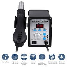 YIHUA 2 in1 959D SMD Hot Air Gun Soldering Iron Station Rework Welder 3 Nozzles
