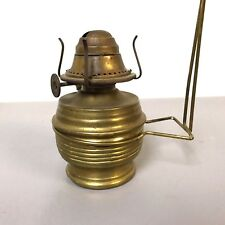 Antique Small Wall Brass Oil Lamp W/ P&A Co. Lift top Burner