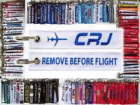 Keyring Bombardier CRJ Remove Before Flight tag keychain Pilot 200 700 900 1000