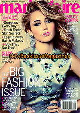 Marie Claire 9/12,Miley Cyrus,September 2012,NEW