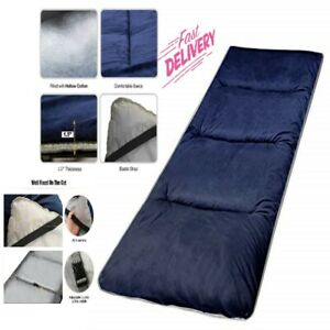 XL Cotton Camping Cot Soft Comfortable Thick Sleeping Mattress Pad Navy Blue