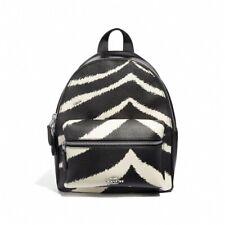 NWT COACH Mini Charlie Backpack Zebra Animal Print Black White School F39033 NEW