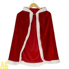 Christmas Adult Mrs Santa Claus Fancy Dress Costume Womens Cloak Cape 1.5M Capes