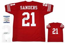 Deion Sanders Autographed SIGNED Jersey - Beckett Witnessed Authentic - Red
